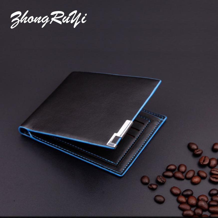 Fashion Short Bifold Men Wallet Luxury Casual Soild Mens Wallets With Coin Pocket Purse Male Wallets with ID-credit card holder oufankadi genuine leather wallet fashion short bifold men wallet casual soild men wallets with pocket purse male wallets