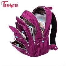 TEGAOTE, школьный рюкзак для девочек-подростков, Mochila Feminina, женские рюкзаки, нейлоновый водонепроницаемый повседневный рюкзак для ноутбука, женский рюкзак