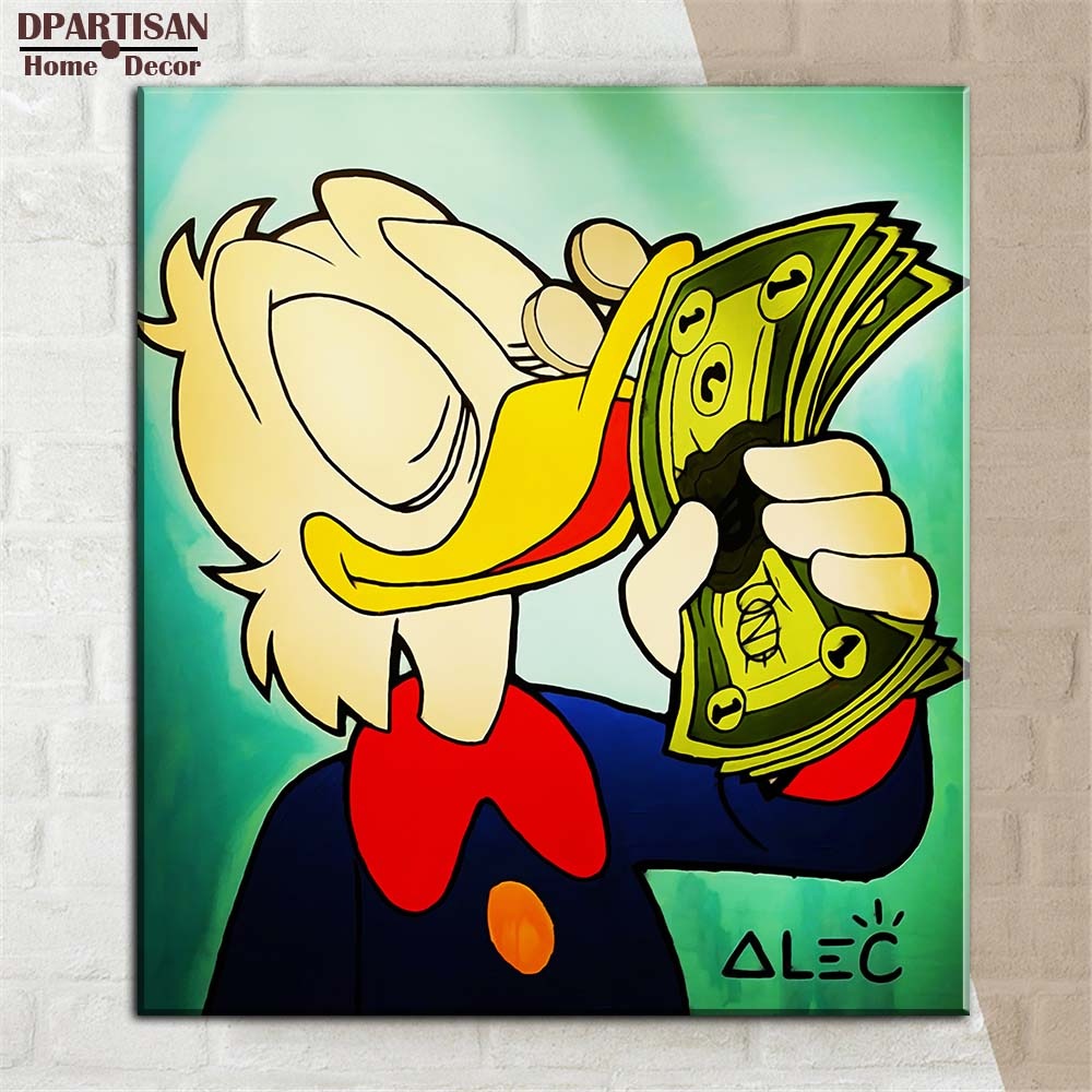 Love money with Alec monopoly Graffiti art print canvas for wall art ...