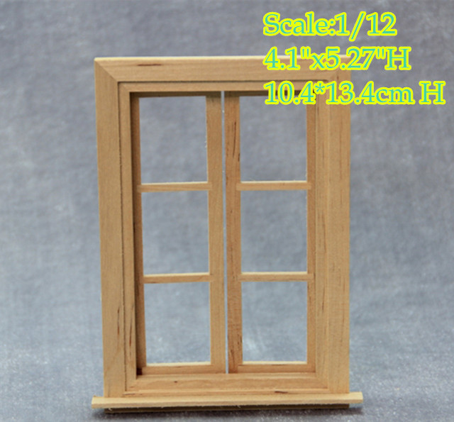 DIY 1:12 scale Dollhouse Miniature Window Frame /Doll House Double ...