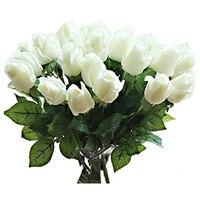 ร้อน10ชิ้นใหม่ที่สวยงามสัมผัสจริงrose budน้ำยางดอกไม้ประดิษฐ์สำหรับบ้านงานแต่งงานห้องนั่ง
