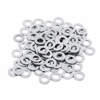 100pcs Set M10 Washer Stainless Steel Flat Washers To Fit Metric Screws Hardware