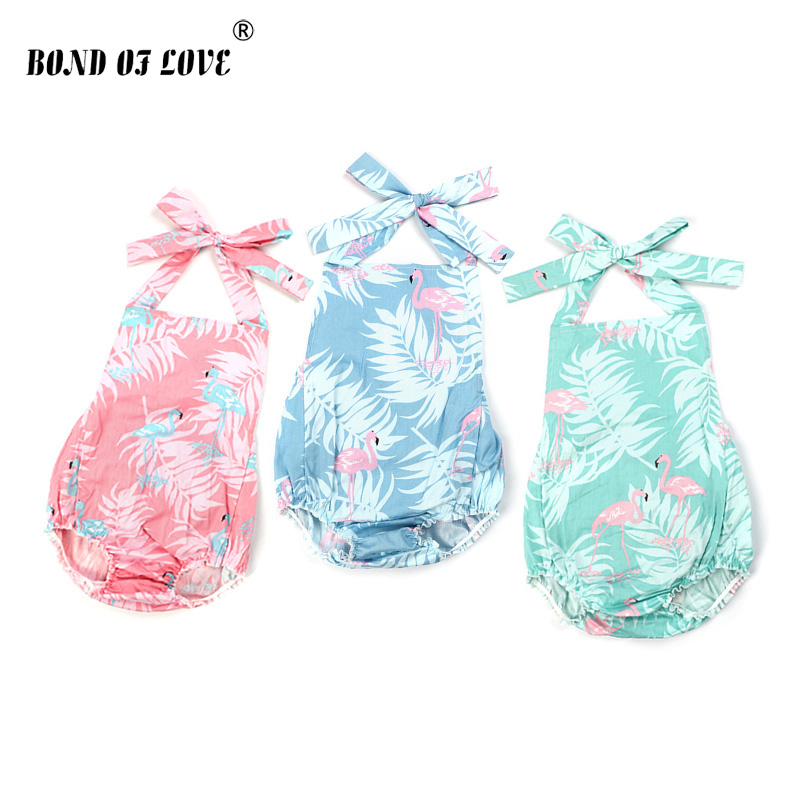 Newborn Infant Girls Rompers Clothes Summer  Backless Baby Romper Casual Cute Outfits Clothing Costume