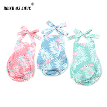 Newborn Infant Girls Rompers Clothes Summer  Backless Baby Romper Casual Cute Outfits Infant Baby Clothing Costume