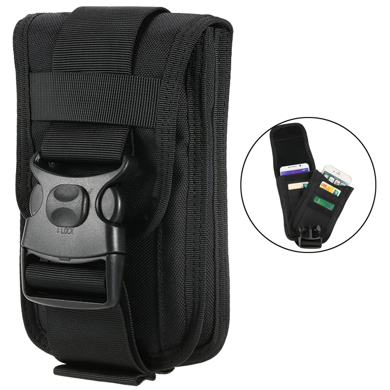 Tactical Molle Phone Pouch Card Holder Nylon EDC Utility Gadget Bag Waist Belt Pack Accessory Pouch Organizer Pack Storage