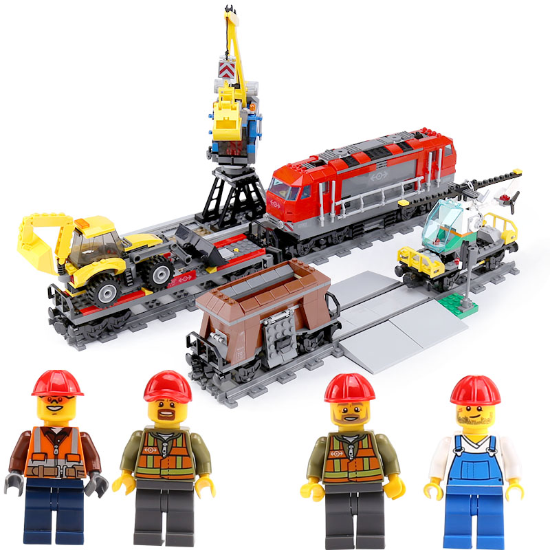 In stock DHL Lepin 02009 City Series legoing 60098 Heavy-haul Train Building Blocks Bricks Educational Kid Toys Christmas Gifts