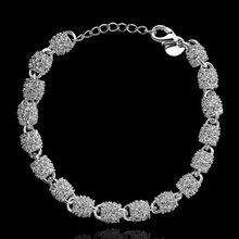 Fina del verano del estilo de plata chapada pulsera 925-sterling-silver joyería bijouterie cadena pulseras para mujeres hombres SB354