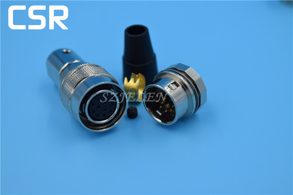 Hirose Connector 12 pin Plug and socket , HR10A-10P-12S/HR10A-10R-12P,Camera cable connector, Communication connector lemo connector 2 pin ffa 0s 302 era 0s 302 lemo plug self locking connector plug socket