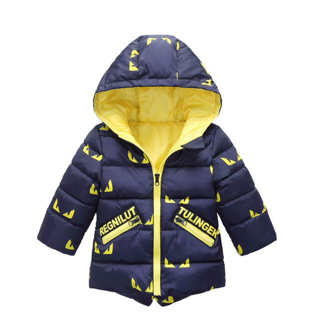 Big Promo 2018 Winter New Baby Boy and Girl Clothes,Children's Warm Jackets,Kids Sports Hooded Outerwear 3 Colors