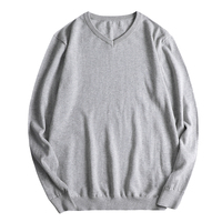 Plus Size Sweaters For Men Knitted Sweater Long Sleeve V neck Solid Color Sweater Pullover Men Big Size 7XL 8XL Pull Homme