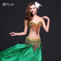 2015 New Design Belly Dance Dress Fringe Skirt Indian Style Ballroom Dance Costume GT 1038
