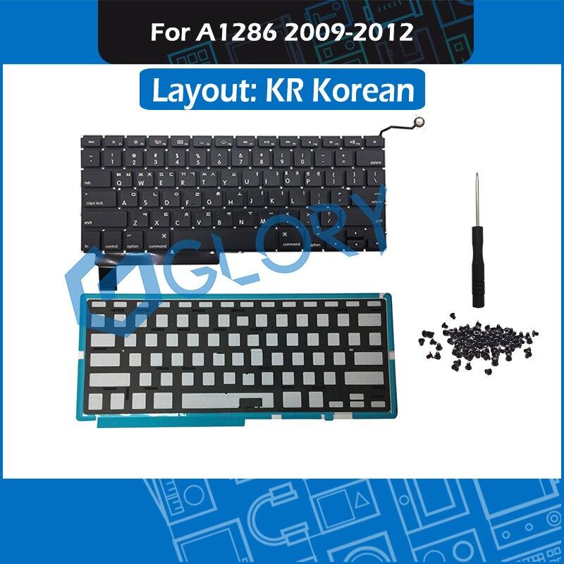 New KR Standard A1286 Keyboard For font b Macbook b font Pro 15 A1286 Korean Keyboard