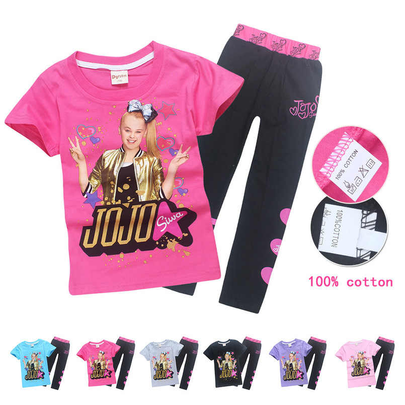 b12629123e0 JOJO siwa Miraculous Ladybug girls cotton children T-shirt girls sister  short-sleeved summer
