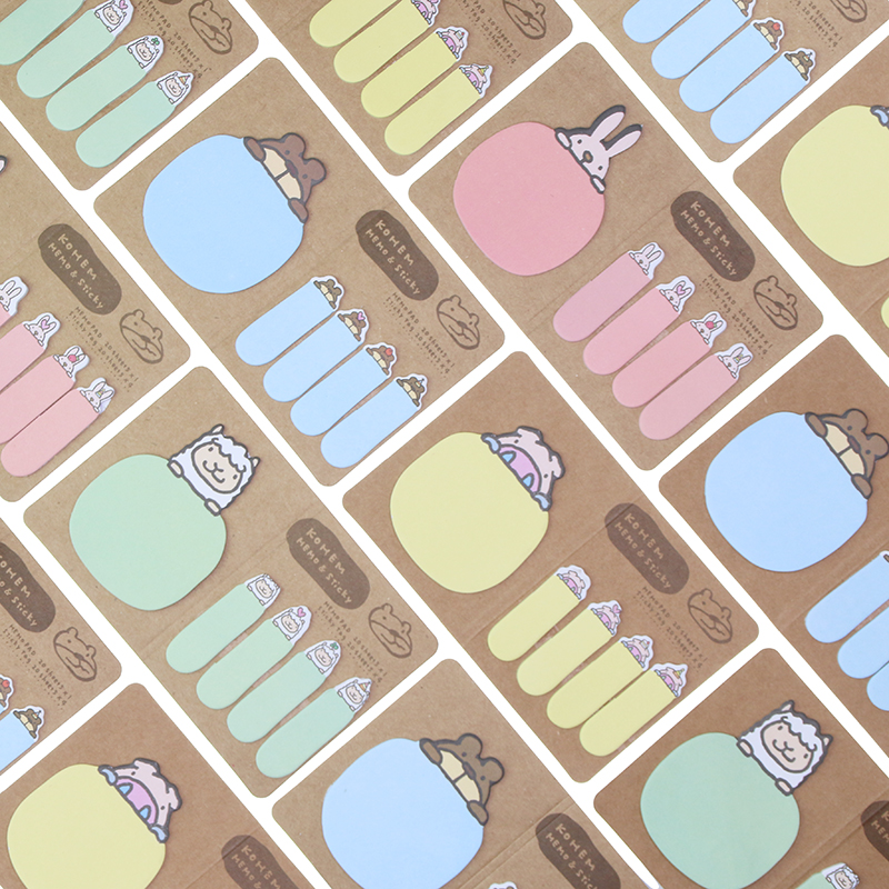 Adorable Animal Sticky Notes Planner Memo Pads Stickers Scrapbook Diary Stickers Office School Stationery Supplies