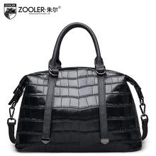 2016 New zooler genuine leather women bag brand fashion quality cowhide boston bag women leather handbags shoulder messenger bag