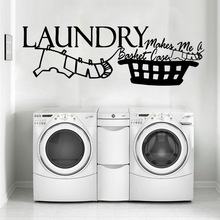 цена на Wall Decal Laundry Room Wall Mural Removable Wall Decal Bedroom Nursery Decoration Wall Decal Home Decor