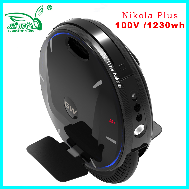 2019 Newest GotWay Nikola Plus Monocycles Electriques Electric Unicycle 100V/1230wh Speed 55km/h+,2000W Motor,Bluetooth Speaker
