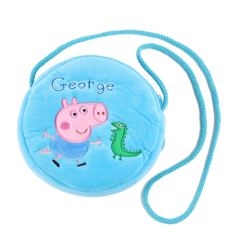 New genuine 16CM Genuine plush pig bag Pink Peppa Pig George Backpack hot sale Animal satchel For Children's birthday present 1