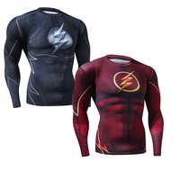 New Fitness MMA Compression Shirt Men Anime Bodybuilding Long Sleeve 3D Superman T Shirt Crossfit Tops