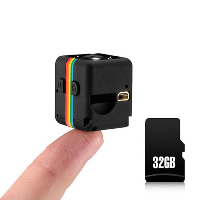 SQ11 Mini Camera Security Camcorders Car Video Recorder Built In Micphone 1080p With 32GB TF Card