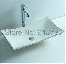 Ванная комната над столешницей каменная раковина твердая поверхность матовая отделка раковины 3808-483