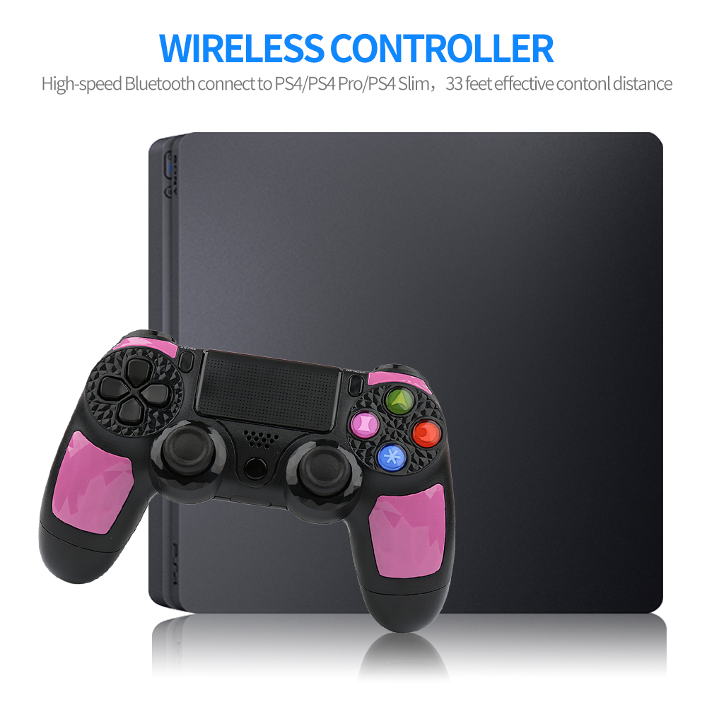 For Sony PS4 Bluetooth Wireless Gamepad Joystick for Sony Playstation 4 PS3 Pro Slim with 3 5mm Headset Plug Accessories Pink in Gamepads from Consumer Electronics