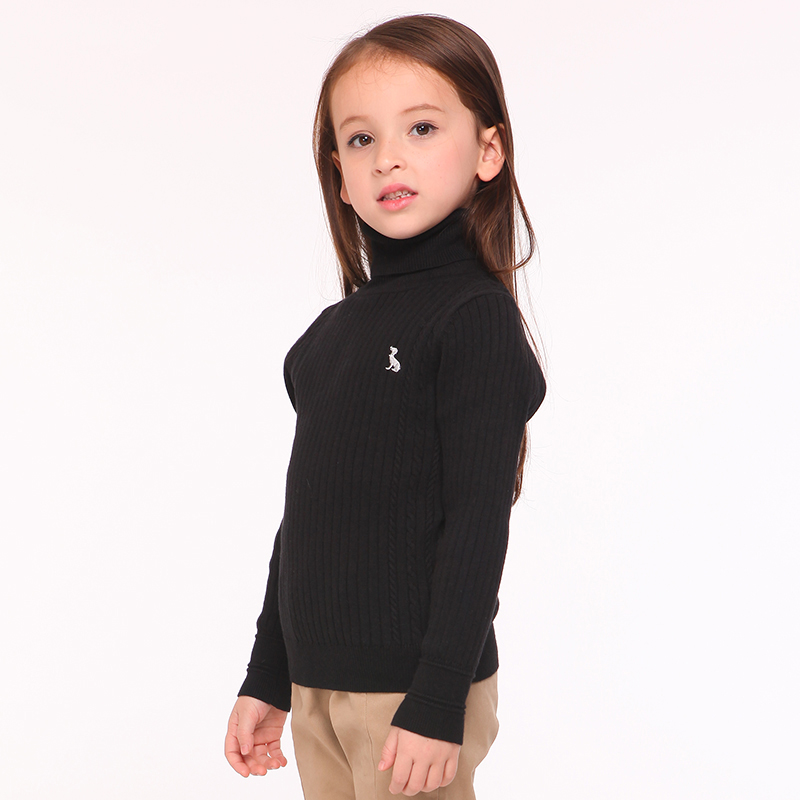 b0f20b876f1f T100 Children Sweater Winter Turtleneck Kids Knitted Pullover Brand ...