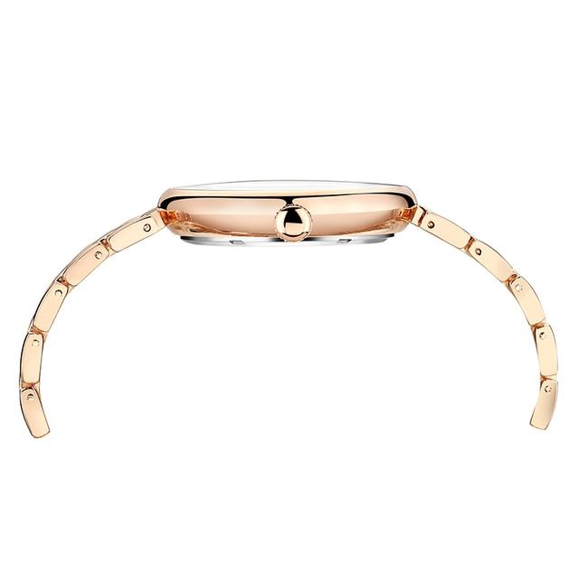 CURREN 9017 New Women Watches Luxury Brand Watch Rose Gold Women Quartz Clock Creative Wood Pattern Dial Fashion Wristwatch 5