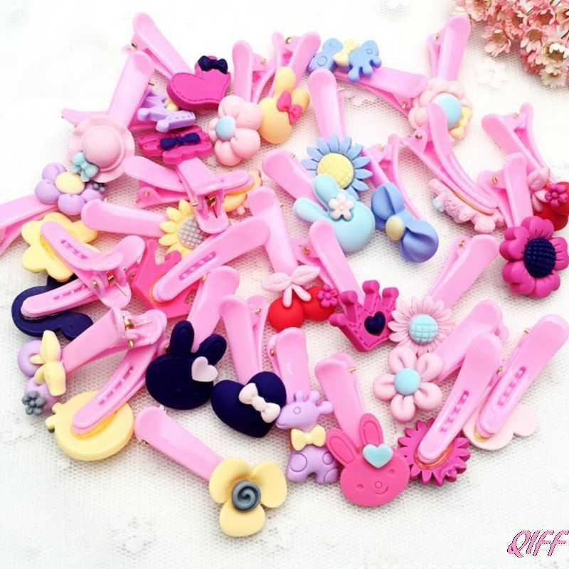 Drop & ขายส่งเด็กทารกเด็กหญิงขัดพลาสติกคลิปผมน่ารักการ์ตูนสัตว์ยางยืดหยุ่นผู้ถือหางม้า APR28