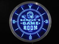 Ncpl-tm Oyun Odası Kişiselleştirilmiş Adınız Bar Bira Neon Led Saat Toptan Dropshipping Sign