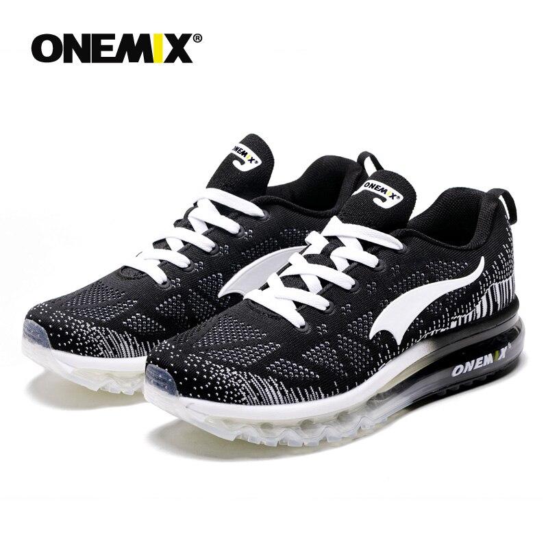 Onemix men's sport running shoes music rhythm men's sneakers breathable mesh outdoor athletic shoe light male shoe size EU 39-47 - 3