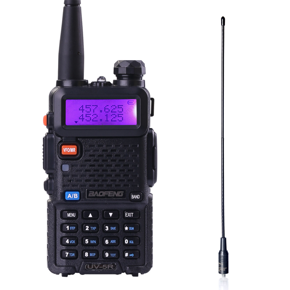 baofeng uv 5r walkie talkie dual band radio vhf uhf portable walkie talkie handheld cb radio ham. Black Bedroom Furniture Sets. Home Design Ideas