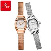 New Luxury Brand Best Quality Women Peerless Bracelet Watch Girls Gold Silver Fashion Casual Quartz Watches Julius 764 Hour Time