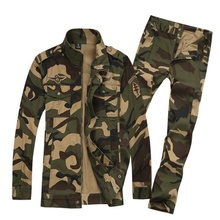 Outdoor Airborne Division Clothes Camouflage Hunting Suit for Men's Army Military Combat Uniforms Tactical Jacket+pants недорого