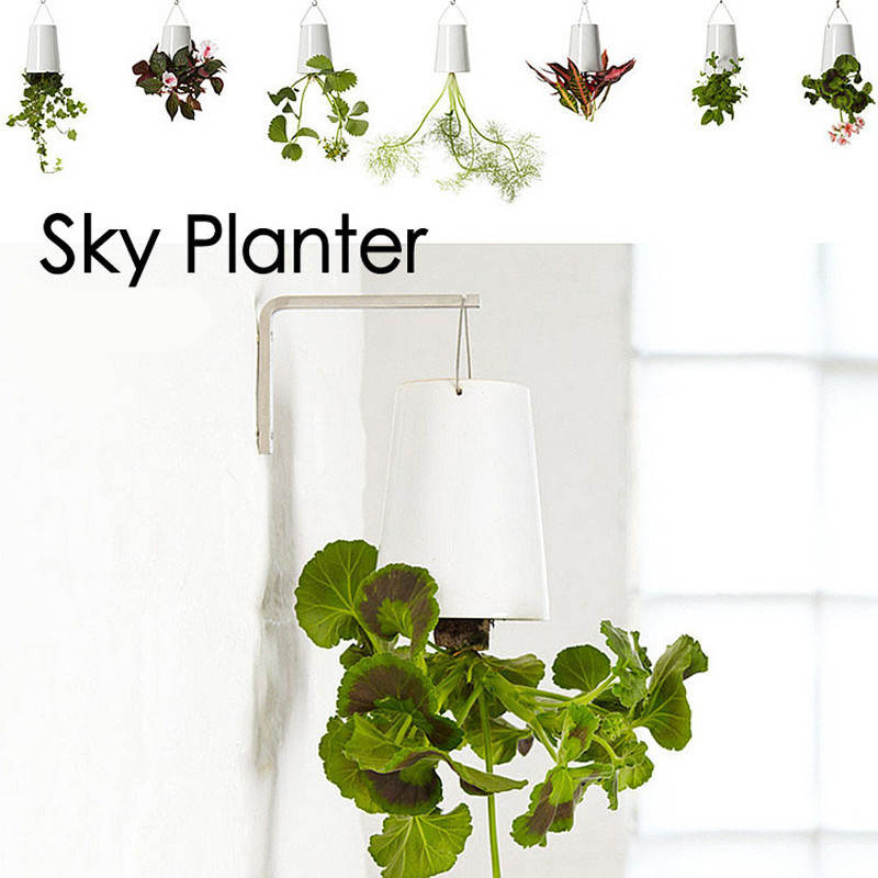 Decorative Small Hanging Plant Pot Plastic Upside Down Flower Pots