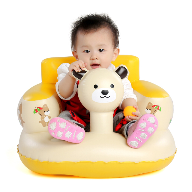 Baby bath seat dining chair portable inflatable aerated sofa pushchair Baby Learn Sofa Chair Seat 7M-36M
