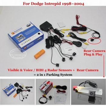Car Parking Sensors Auto Rear View Back Up Sensor Alarm System Reverse Camera For Dodge Intrepid 1998~2001 2002 2003 2004