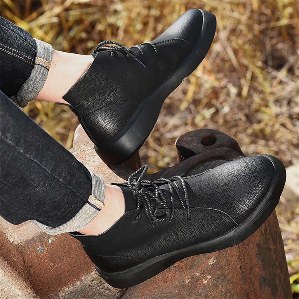 ฤดูใบไม้ร่วงฤดูหนาวผู้ชายรองเท้าขนาดใหญ่ 37-47 England รองเท้าผู้ชายรองเท้าสบายๆสไตล์-ตัด Wearable warm Hombre