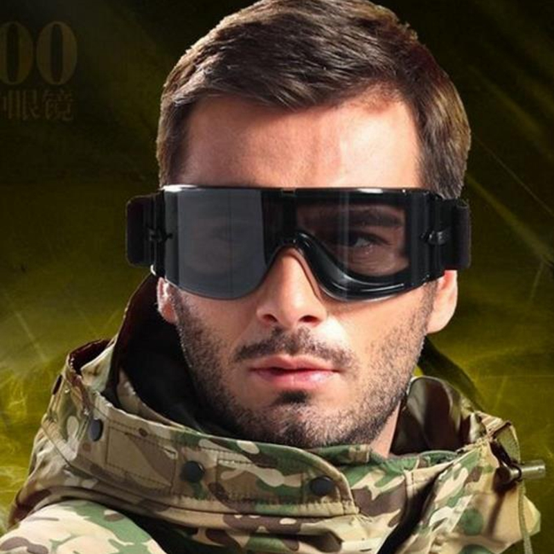 Militärglasögon 3 Linser Tactical Army Solglasögon Paintball Airsoft Jakt Combat Tactical Glasses