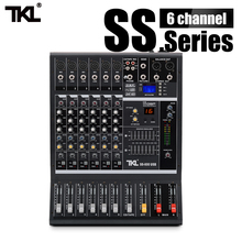TKL SS600 Professional Mixing 6 Channel DJ Console Sound mixer Audio USB with bluetooth With 16 Reverb effect 7 Equalizer цена