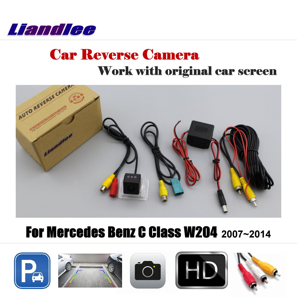 Liandlee Car Reverse Rearview Camera For Mercedes Benz C Class W204 2007 2014 Original Screen HD