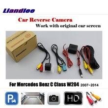 Liandlee Car Reverse Rearview Camera For Mercedes Benz C Class W204 2007~2014 Original Screen / HD CCD Backup Parking Camera цена 2017