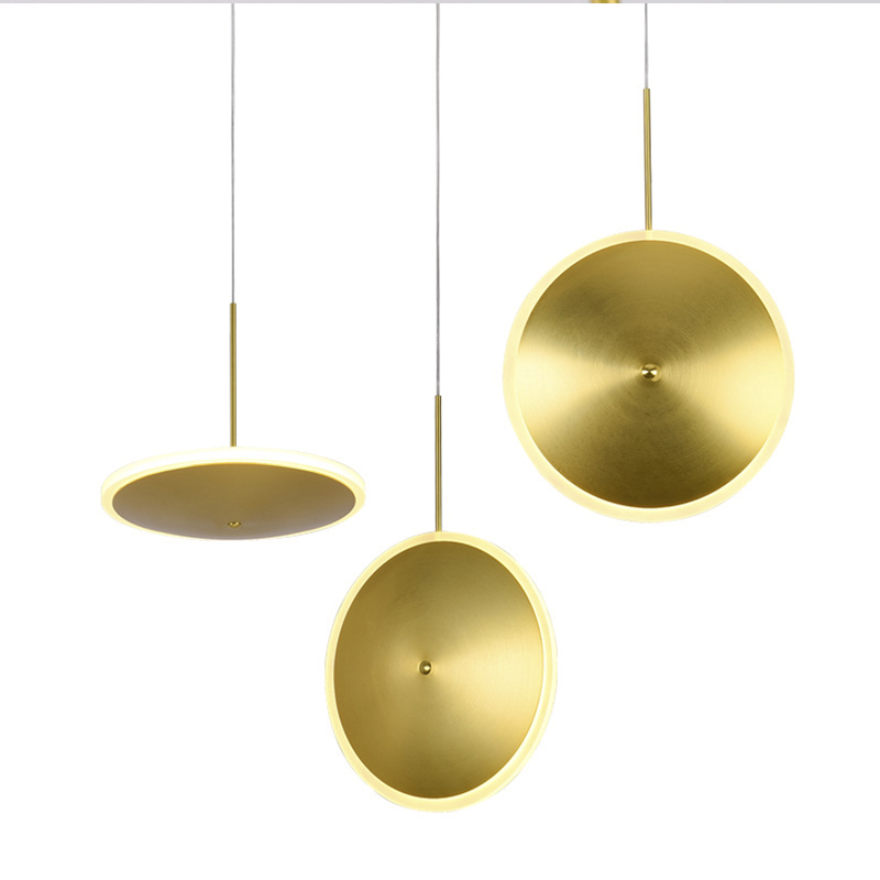 Modern Pendant Light 220V E27 Round Copper Hanglamp For Living Room LED Pendant Lamp Luminaria Music Restaurant Nordic LightingModern Pendant Light 220V E27 Round Copper Hanglamp For Living Room LED Pendant Lamp Luminaria Music Restaurant Nordic Lighting