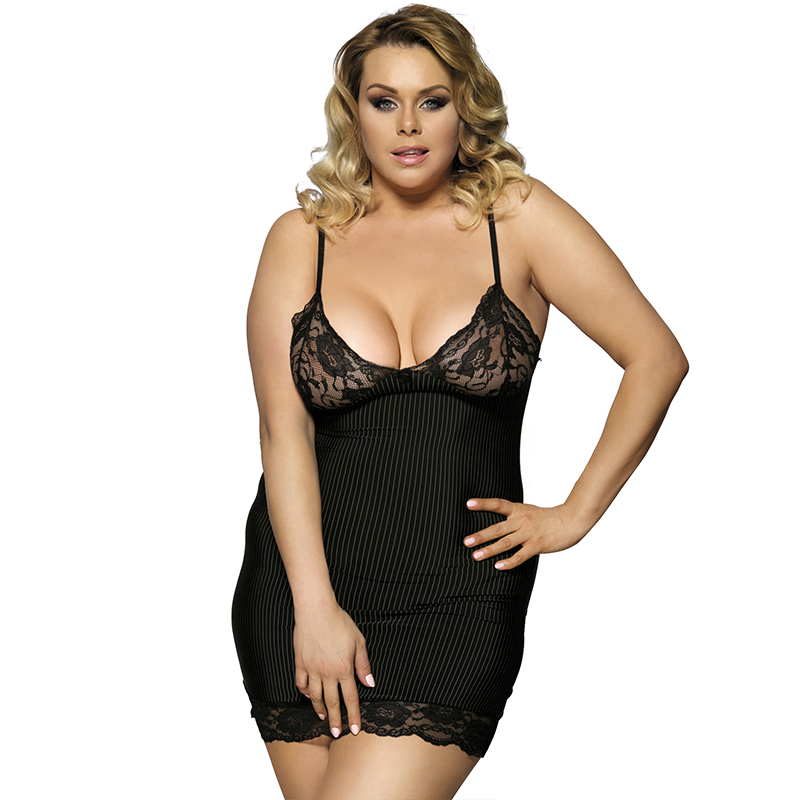 Sex Lingerie Striped Satin Lenceria Erotica Mujer Sexi Sleevess Lingerie <font><b>Sexy</b></font> Hot Erotic Plus Size Babydoll <font><b>Lencer</b></font>í<font><b>a</b></font> <font><b>Sexy</b></font> R7391 image
