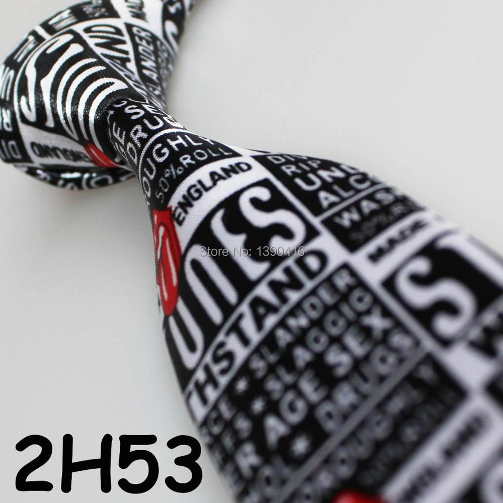 XINCAI Heavy discount ! High sales ! 2018 Latest Style Fashion/Business/Casual black/white Letter pattern party Hip-hop ties