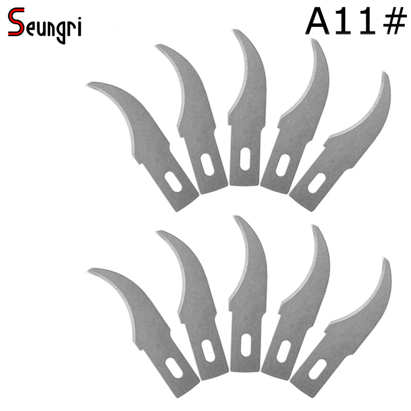 Seungri A11# 10Pieces/lot Blades Scalpel Cutting Tool Wood Carving Tools Engraving Craft Sculpture Knife