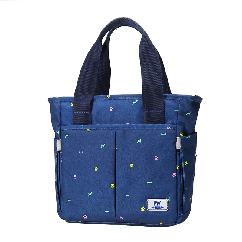 Fashion Maternity Bag Dark Blue Printed Mummy Bags For Baby Care Kids Nursing Large Capacity Nappy Travel Diaper Handbag 13color