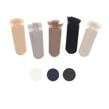7 Colors New Summer Women Ultrathin Transparent Socks Glitter Crystal Glass Silk Meias Beautiful Lace Shiny Elastic Short
