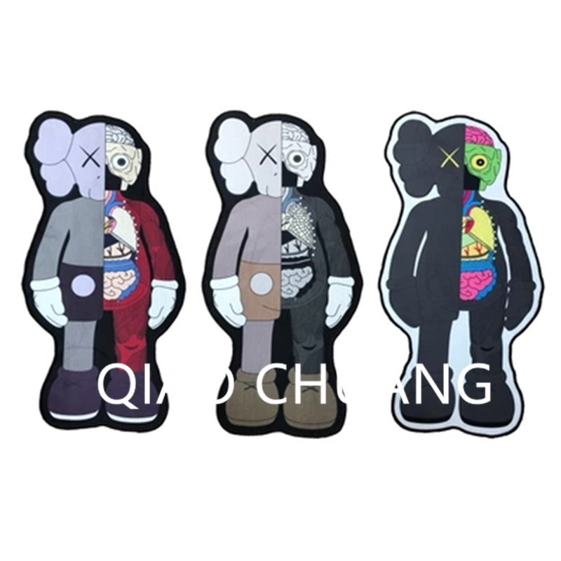 OriginalFake Medicom Toy KAWS Dissection BRIAN Street Art Floor Mats Carpet Action Figure Model Toy G1264 28 70cm 1000% bearbrick be rbrick attack on titans action toy figure medicom toy art work great gift for friends