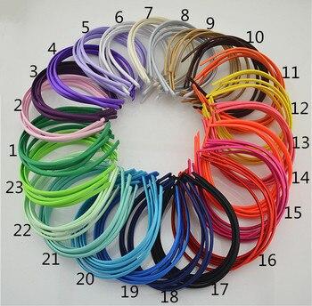 Resin head hoop 0.7cm  Women Unisex men corrugated iron or metallic strip of hair band, head hoop diadem by mujer 3pcs Girls Accessories